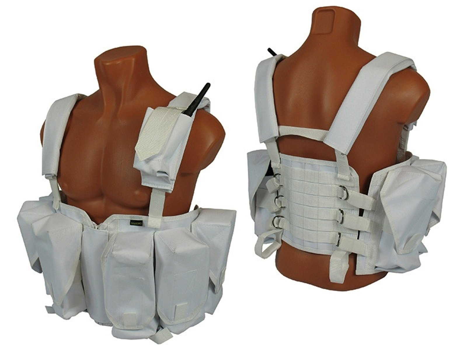 MOLLE tactical Chest rig vest airsoft paintball White winter molle
