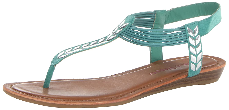 Pink & Pepper Women's Moxxie Wedge Sandal B00GSMKDTC 8.5 B(M) US|Green Multi
