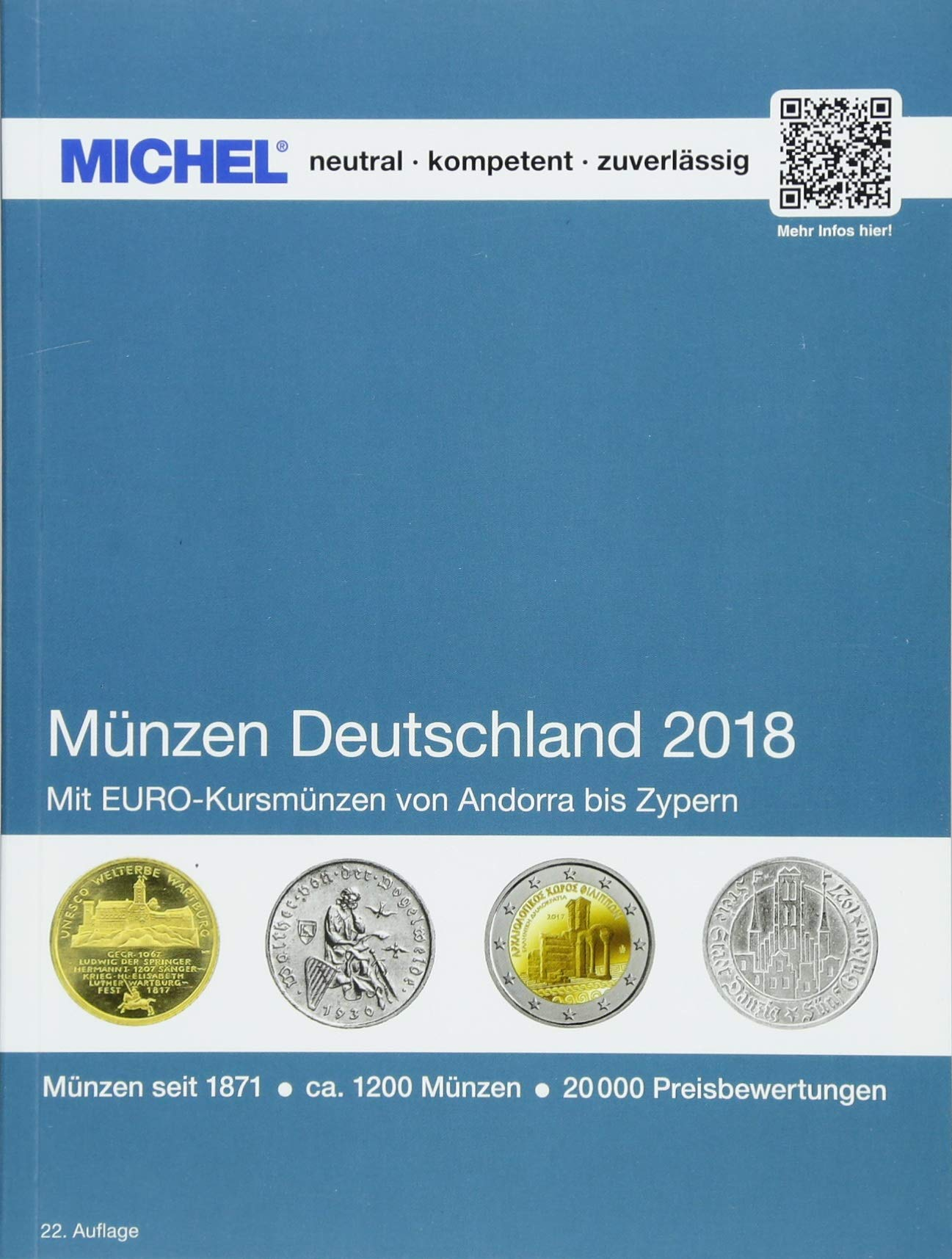 Münzen Deutschland 2018 Taschenbuch – 2. März 2018 MICHEL-Redaktion Münzen Deutschland 2018 Schwaneberger 3954022303