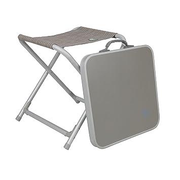 Camping klappstuhl mit tisch  Aluminium Klapp-Hocker mit MDF Tischplatte 42x42 cm • Camping ...