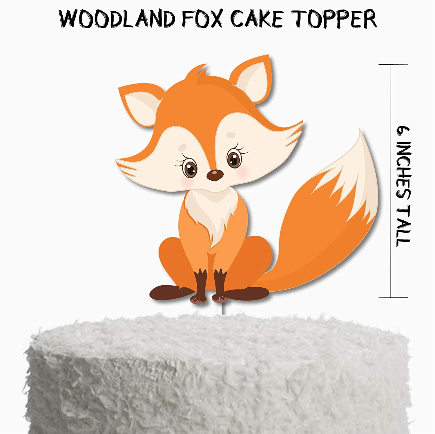 Woodland Fox Cake Topper, Woodland Fox Birthday Party Decor, Woodland Fox Party Supplies
