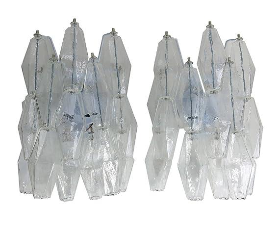 Murano italian poliedri glass appliques sputnik vintage style