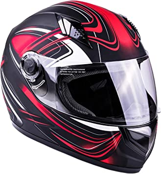 Typhoon Adult Full Face Motorcycle Helmet DOT Same Day Shipping Matte Blue, Small