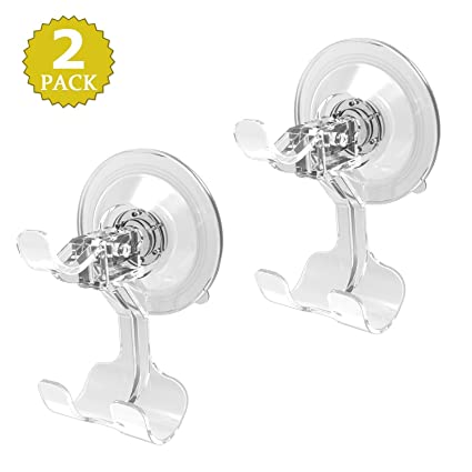 Amazoncom Luxear Shower Hooks Clear Plastic Suction Cups Hooks