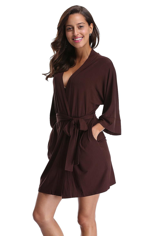 Amazon.com  CostumeDeals KimonoDeals Women s Modal Cotton Bathrobe Short  Kimono Robe Soft Wrap Sleepwear  Clothing 943281261