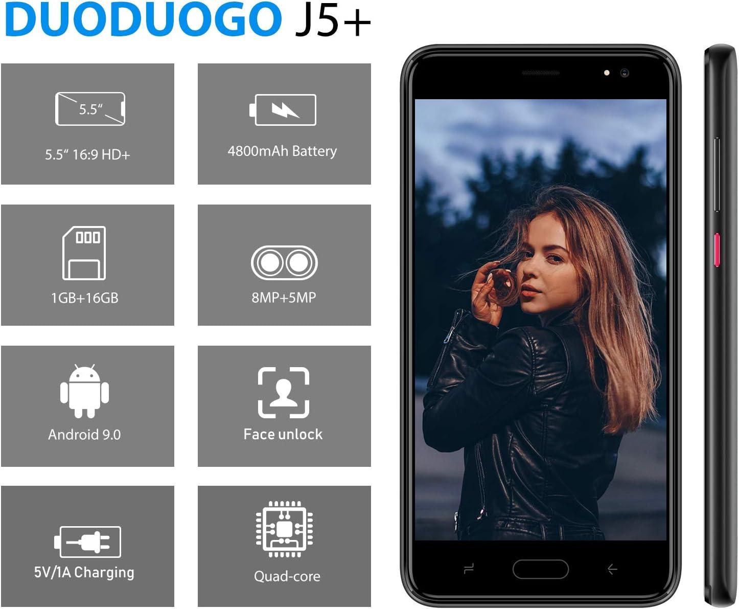 Moviles Libres Baratos 4G , 16GB ROM/128GB, 5.5 Pulgadas Smartphone Libre Android 9.0 ,4800mAh Batería, Teléfono Moviles Baratos Cámara de 8MP, Quad Core Dual Sim Moviles Baratos y Buenos(Negro): Amazon.es: Electrónica