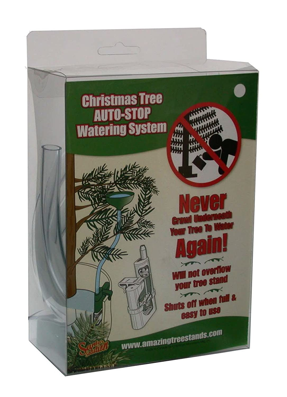 amazoncom santas solution auto stop christmas tree watering system home kitchen