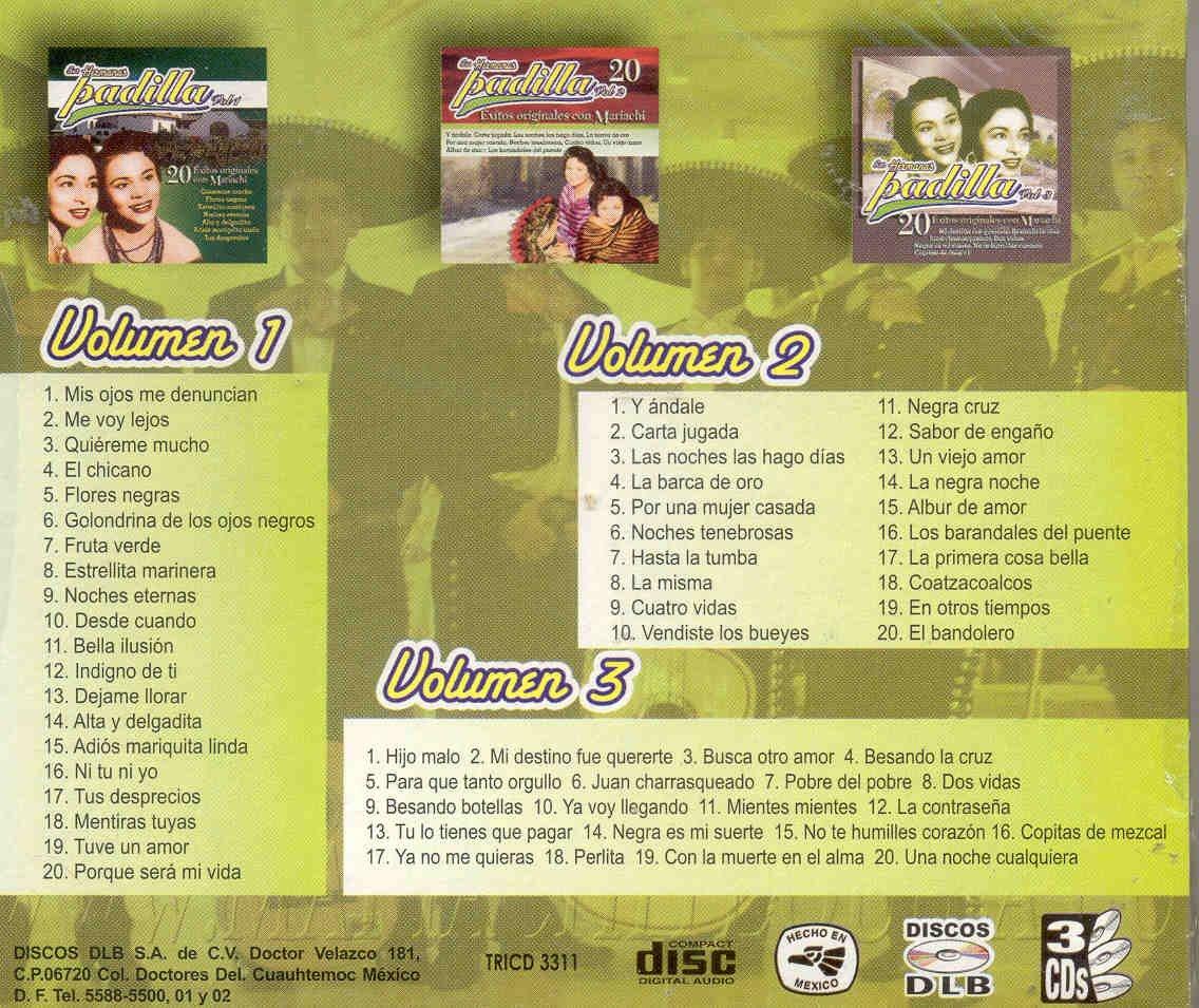 31280313fbd LAS HERMANAS PADILLA - 60 EXITOS DE LAS HERMANAS PADILLA - Amazon.com Music
