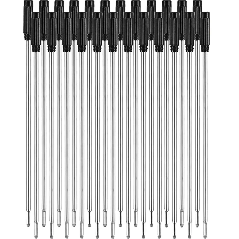 et 1 mm Pointe Moyenne Noir 24 Pi/èces Recharges de Stylo /à Bille Rempla/çables /Écriture Lisse 4,5 Pouces 11,6 Cm