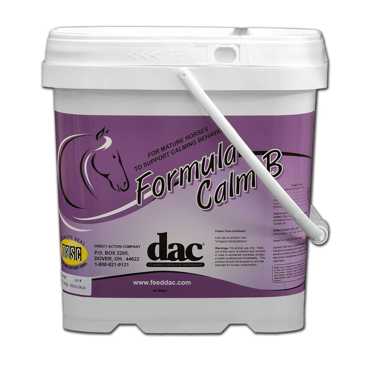 dac Formula Calm B, 5 lb, Approx 80 servings for 1 horse by DAC
