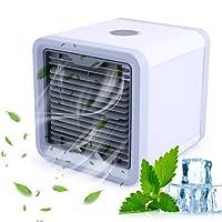 Climatiseur Portable, Climatiseur Mobile Ventilateur USB Portable Refroidisseur D'air Personnel Puissant pour Bureau Voiture Chambre Couche