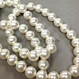 100 White Swarovski Crystal Pearls 6mm Round Beads (5810). 24 Inch Loose Strand