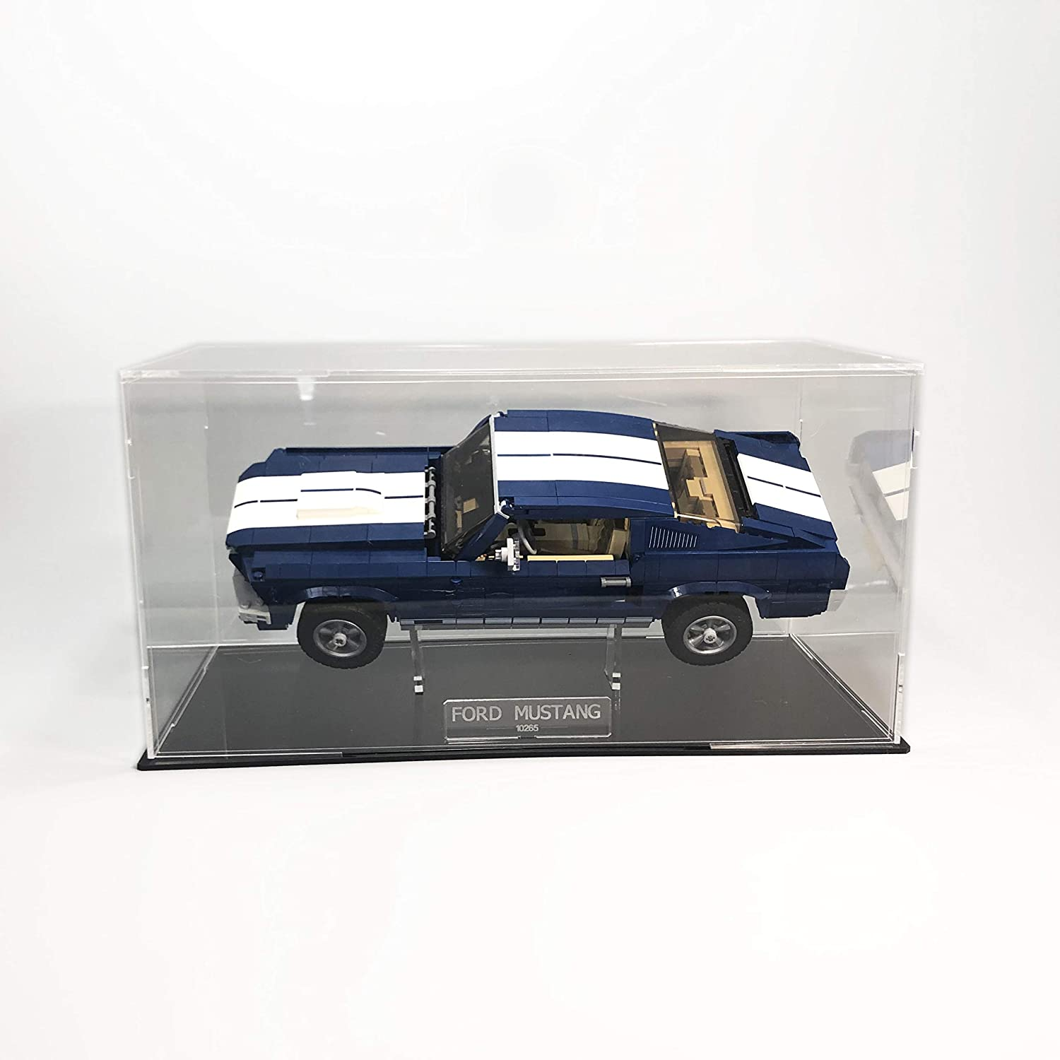 LASER FRAME Ford Mustang acrylic display case with internal sand for the LEGO model 10265