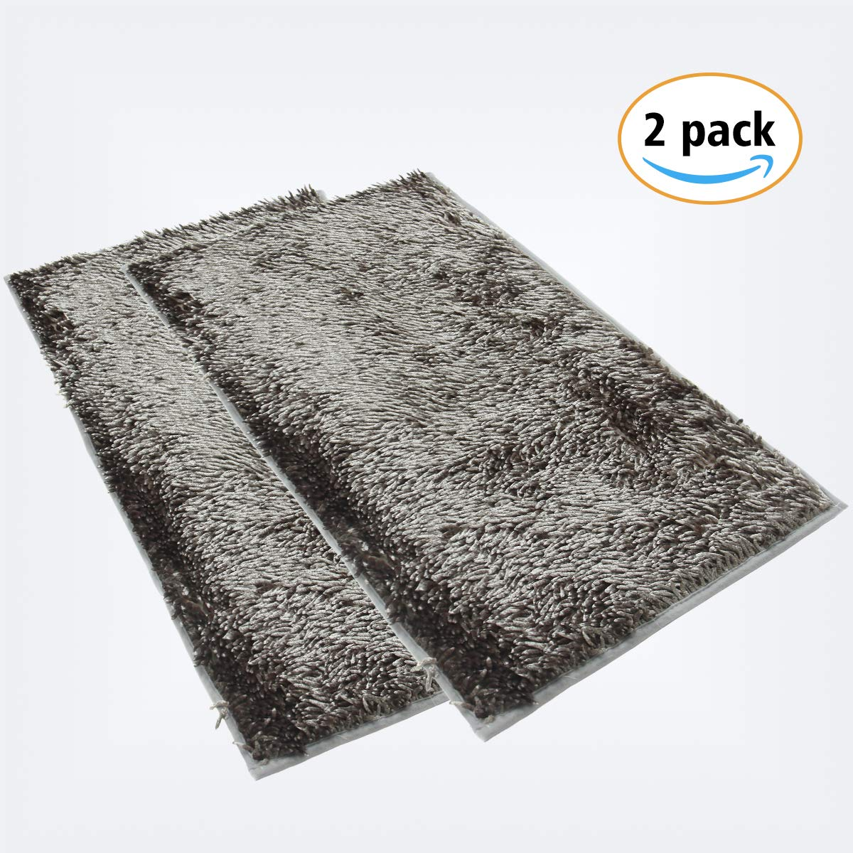 YOUKADA Original Shaggy Chenille Bathroom 2 Piece Rug Set Includes Mat Contoured for Toilet and 20X32 inch Carpet, Machine Wash/Dry, Perfect Plush Mats for Tub, Shower, and Bath Room