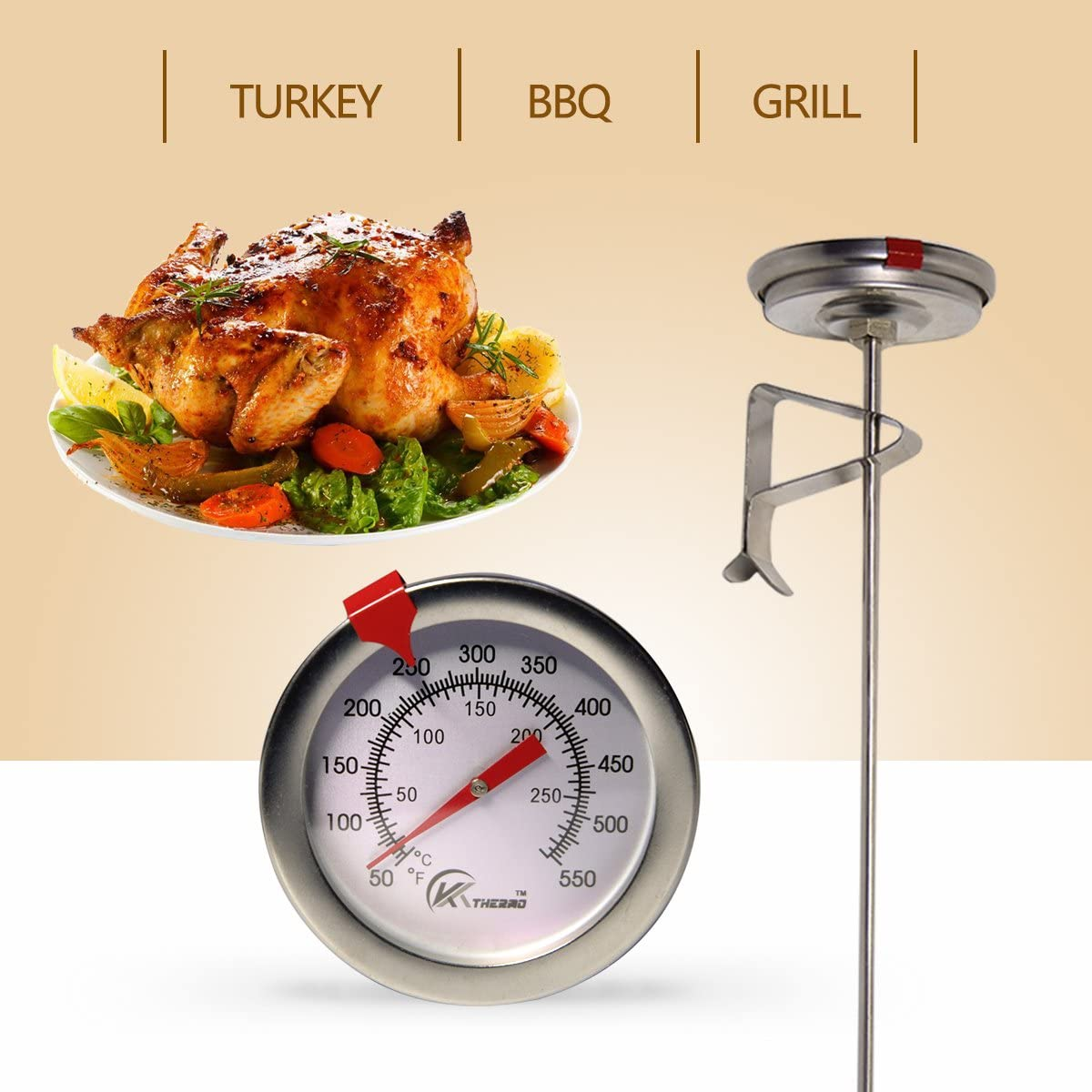 2. KT THERMO Deep Fry Thermometer