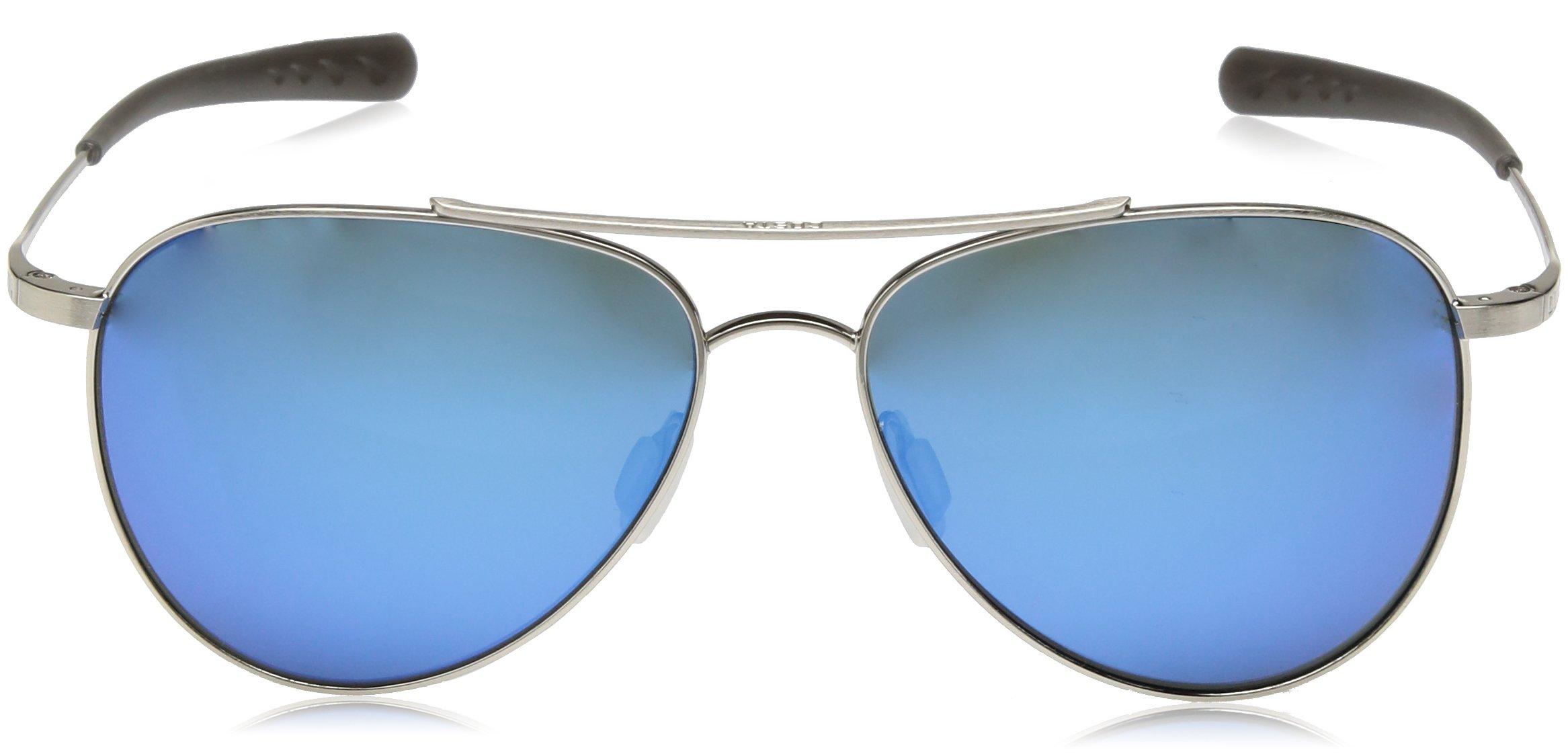 Costa del Mar Cook Polarized Iridium Aviator Sunglasses, Brushed Palladium, 59.7 mm by Costa Del Mar (Image #2)