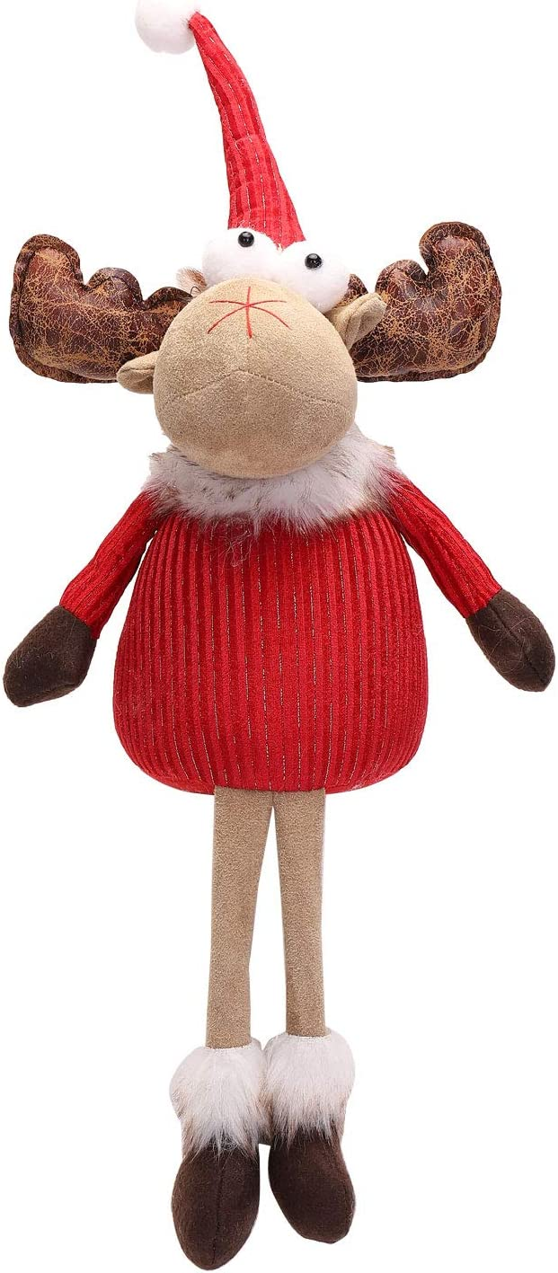 LARLIFE 24 Inches Handmade Christmas Gnome Decoration Swedish Figurines (Deer)
