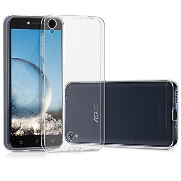 """127c0940bf6 Kit Capa Silicone Flexível Transparente Zenfone Live Zb501kl 5.0""""  Capinha + Película De Vidro Temperado"""