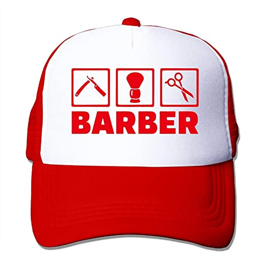 14fd9f52443 Image Unavailable. Image not available for. Color  Classic Barber Tl Mesh  Strap Sun Caps Snapbacks Baseball HatVisors