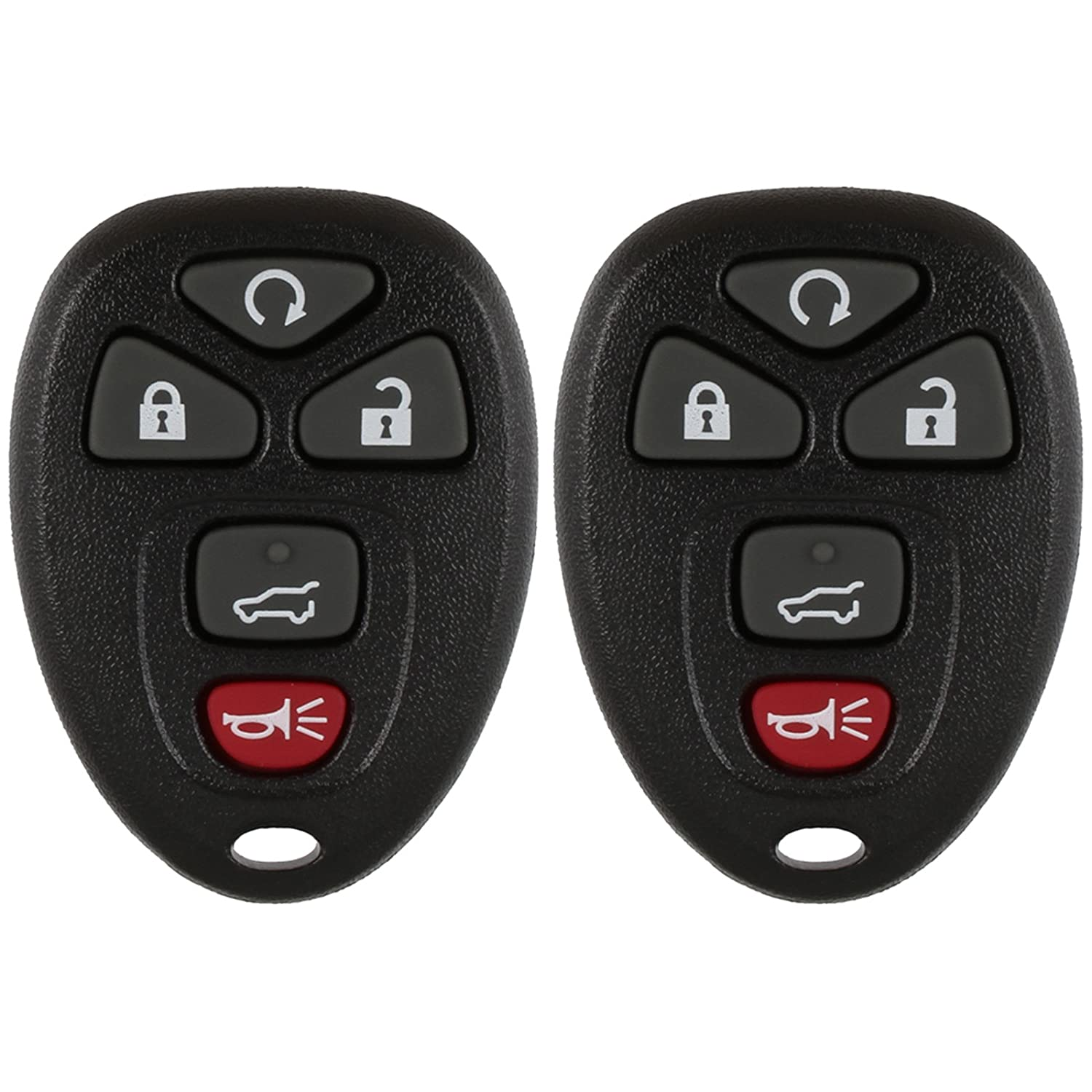 2 Pack Discount Keyless Replacement Key Fob Car Remote and Uncut Transponder Key Compatible with 15913415 25839476 ID 46
