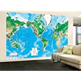 Laminated world map wall mural amazon 99x164 world map huge wall mural art gumiabroncs Choice Image