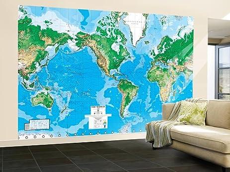 Amazon world map wallpaper mural 156 x 104in kitchen dining world map wallpaper mural 156 x 104in gumiabroncs Choice Image