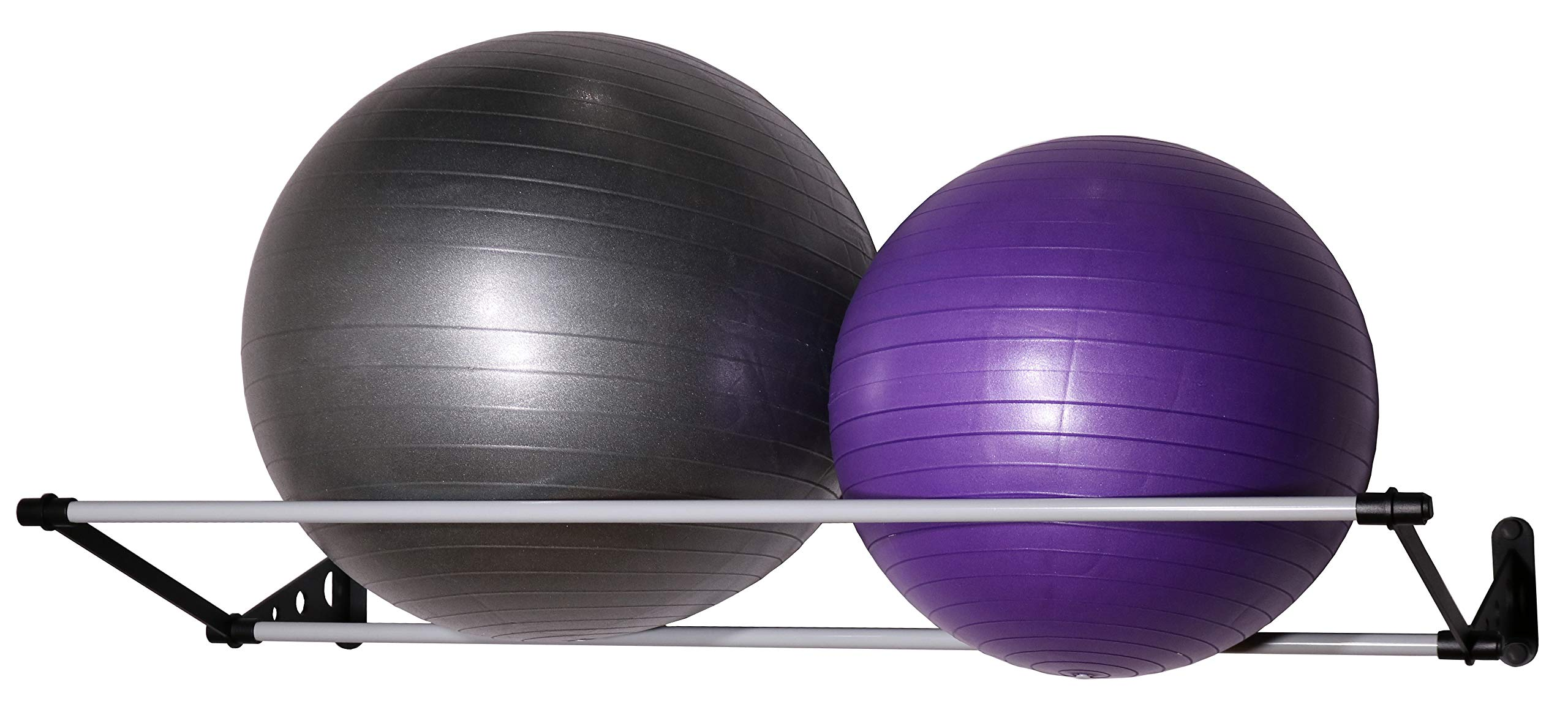 Vita Vibe Wall Storage Rack for Exercise/Yoga/Stability Balls - for Storing Ball Sizes 25cm to 95cm (10'' to 36'') (4 FT)