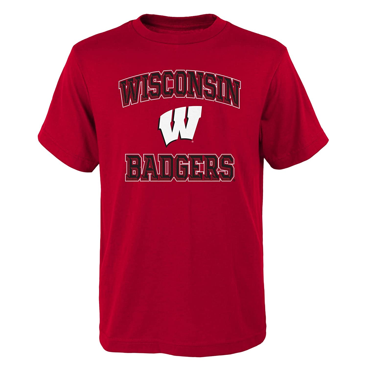 Youth Large 12-14 NCAA Wisconsin Badgers Boys Outerstuff Game Time Basic Tee Team Color