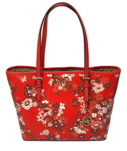 28df37422ccc Amazon.com: MICHAEL Michael Kors Jet Set Travel MD Carryall Tote (DK  Sangria Floral): Shoes