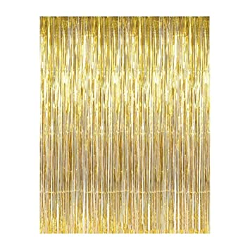 Aspire Wholesale Long Foil Fringe Photo Backdrops Doorway Window Tinsel Party Curtain Table Skirt 3 Ft