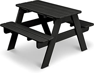 product image for POLYWOOD KT130BL Kids Picnic Table, Black