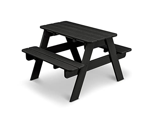 POLYWOOD KT130BL Kids Picnic Table, Black