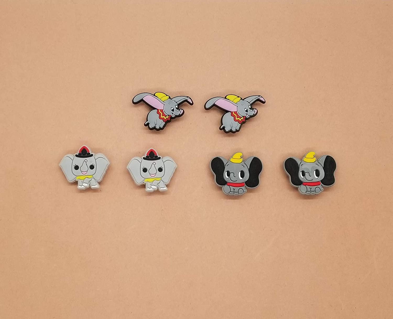 Dumbo Shoe Charms Crocs And Clog Jibbitz Wristband Set of 6