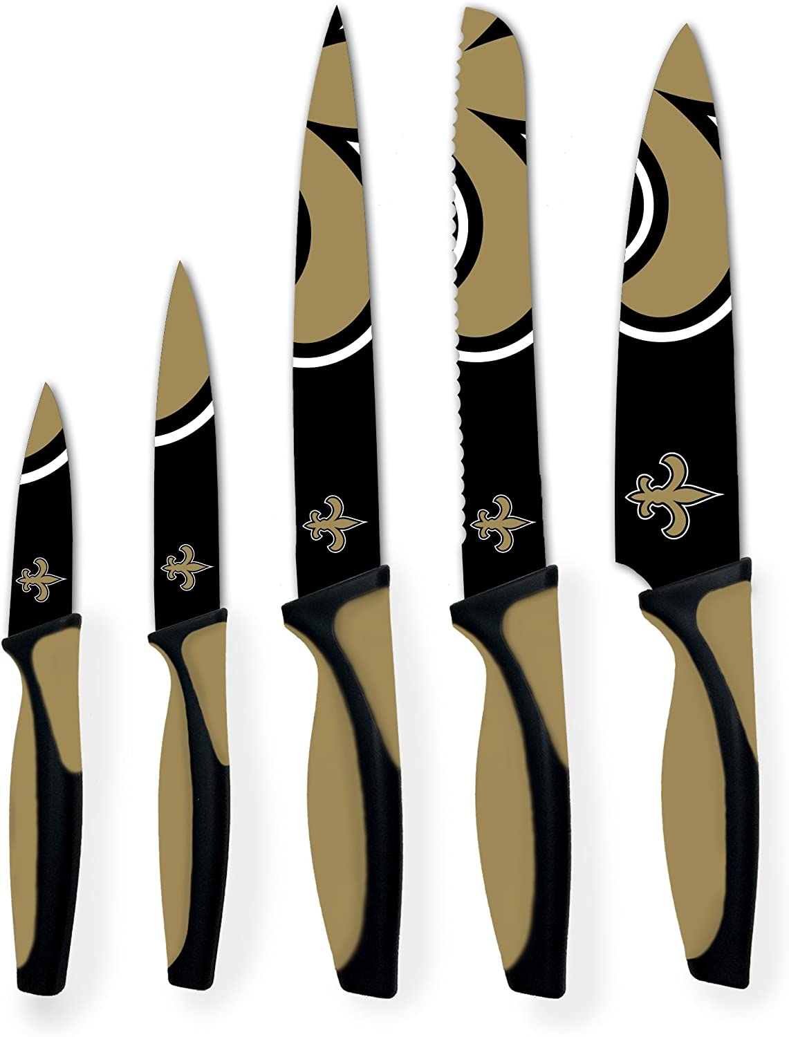The Sports Vault NFL 5-Piece Kitchen Knife Set