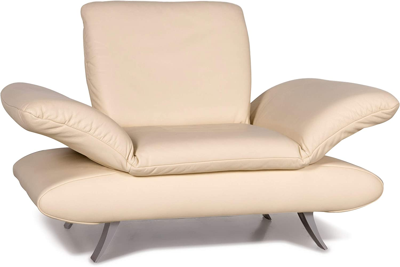 Koinor Rossini Leather Armchair Cream Real Leather Chair Sanaa Amazon Ca Home Kitchen