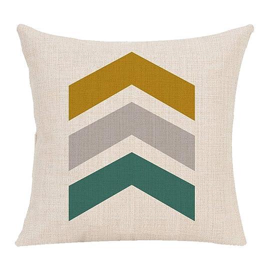 Sanahy Funda de cojín Plana geométrica, para sofá ...