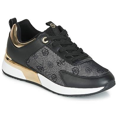 8d6962c5f74f Guess Baskets Femme Marlyn Noir  Amazon.fr  Chaussures et Sacs