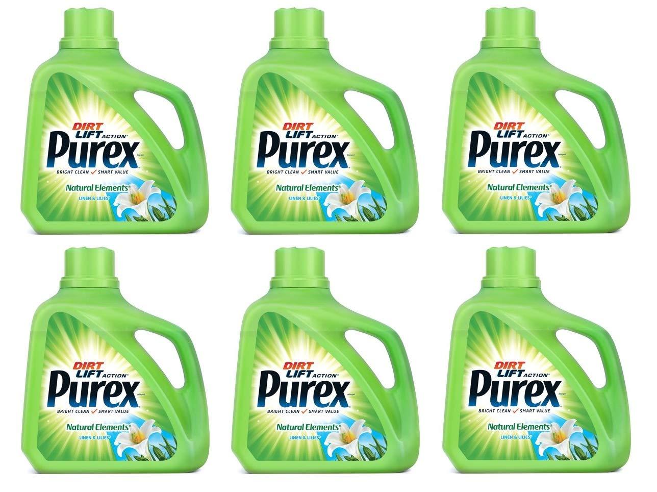 Purex 洗濯洗剤 液体 天然エレメント リネン&リリー 150オンス 100本入 B07H2WLWXG  6