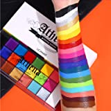 UCANBE Face Body Paint, 20 Colors Professional Oil Painting Flash Tattoo Makeup Palette Painting Art Halloween Party…