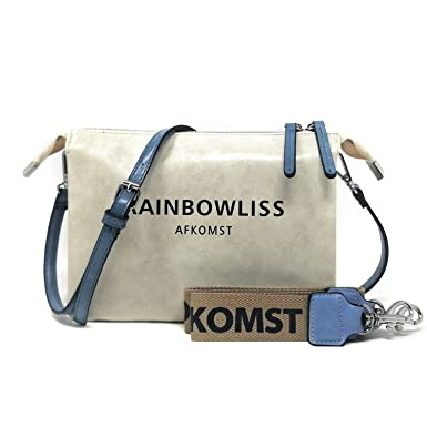 AFKOMST Small Crossbody Shoulder Bag Mini Satchel Purse Multi-layer Clutch Handbags with 2 Straps