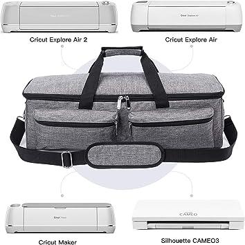 Bolsa de transporte para Cricut Explore Air (Air 2), Cricut Maker y Silhouette Cameo 3, bolsa resistente compatible con Cricut Explore accesorios y suministros: Amazon.es: Juguetes y juegos