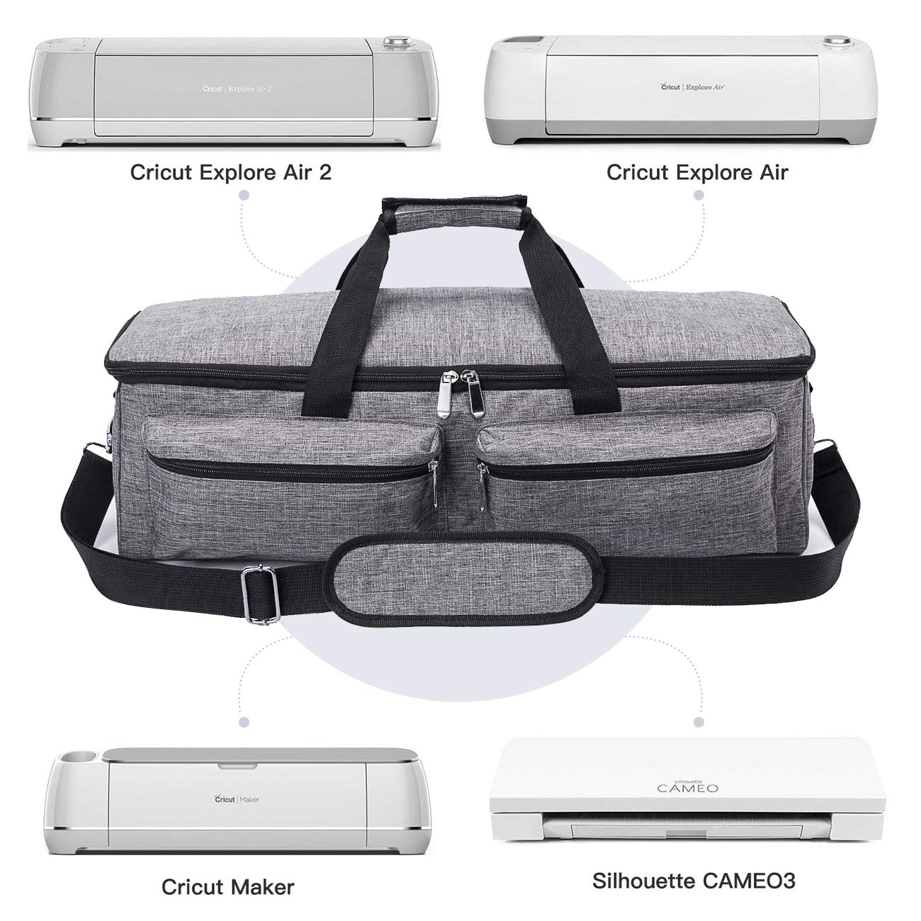 Carrying Bag for Cricut Explore Air (Air 2), Cricut Maker and Silhouette Cameo 3,Heavy Duty Tote Bag Compatible with Cricut Explore Accessories and Supplies