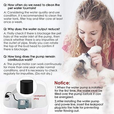 Pet Fountain Cat Dog Water Dispenser