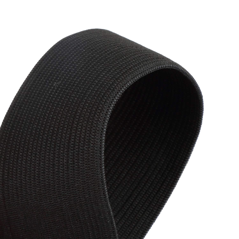 Lawei 1.5 pulgadas x 44 yardas carrete el/ástico negro alta elasticidad Heavy Stretch costura bandas el/ásticas