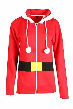 Parsa Fashions ® Unisex Mens Ladies Elf Santa Christmas Hooded Top Zipper  Jumper Sweatshirt: Amazon.co.uk: Clothing