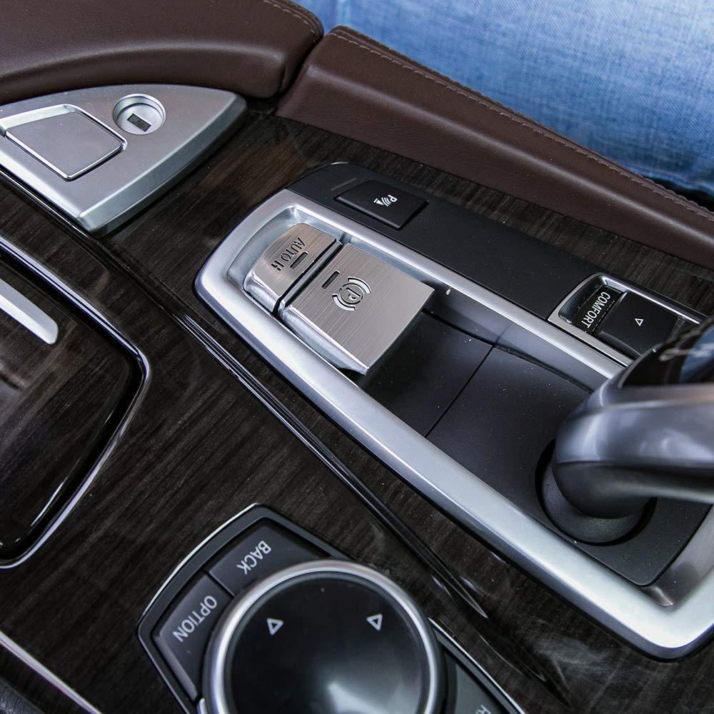 Aluminiumlegierung Auto Elektronische Handbremse Auto H-Taste Abdeckung Trim f/ür 5 F10 GT F07 6 7 Serie X3 F15 X4 F16 X5 F25 X6 F26 Silber