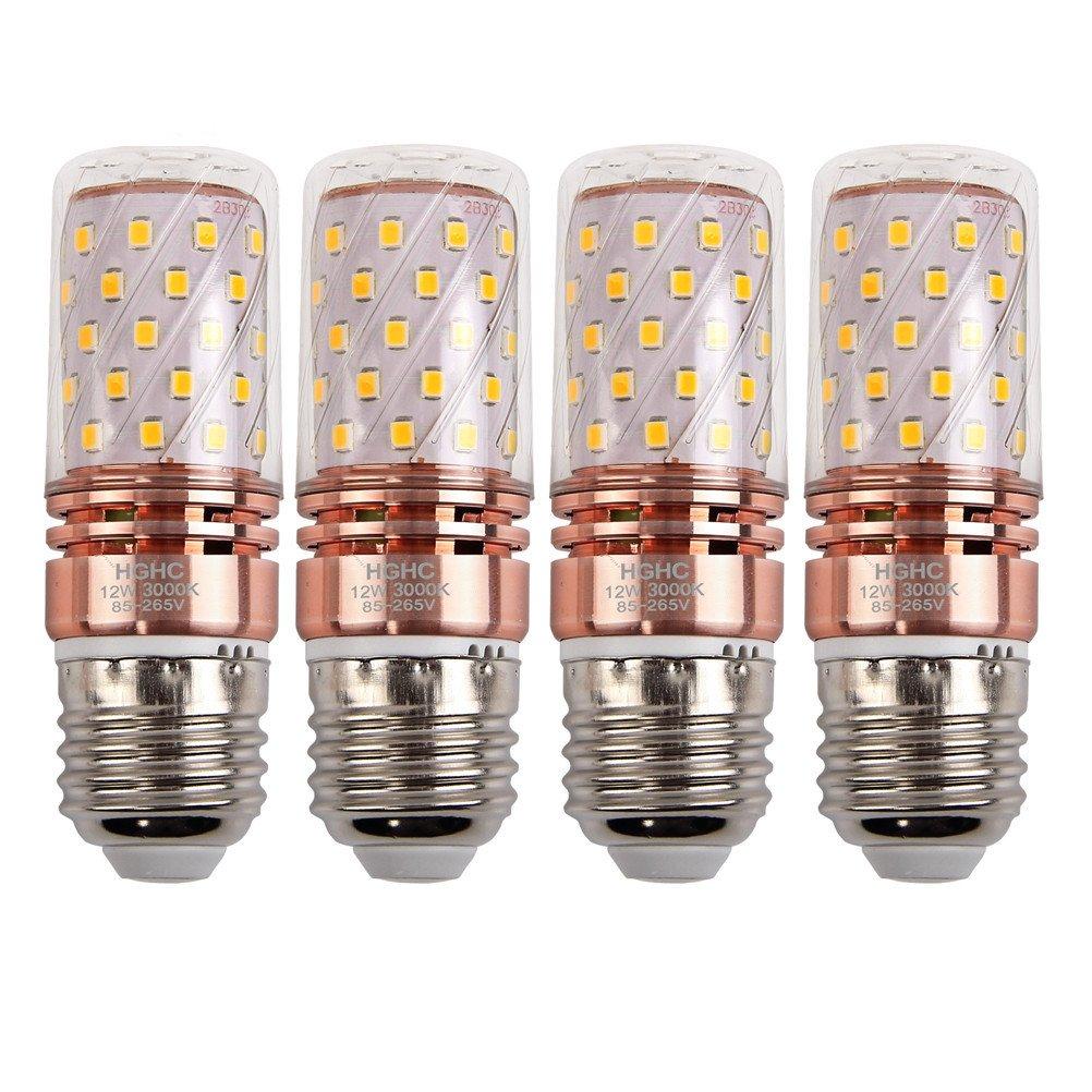 E14 LED Corn Birnen, HGHC 12W kaltweiß 6000K 100Watt Glühlampe äquivalent, für Kronleuchter Wandlampe Zylinder Glühbirnen, (4er-Pack)