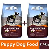 Meat Up Puppy Dog Food, 1.2 kg (Buy 1 Get 1 Free)