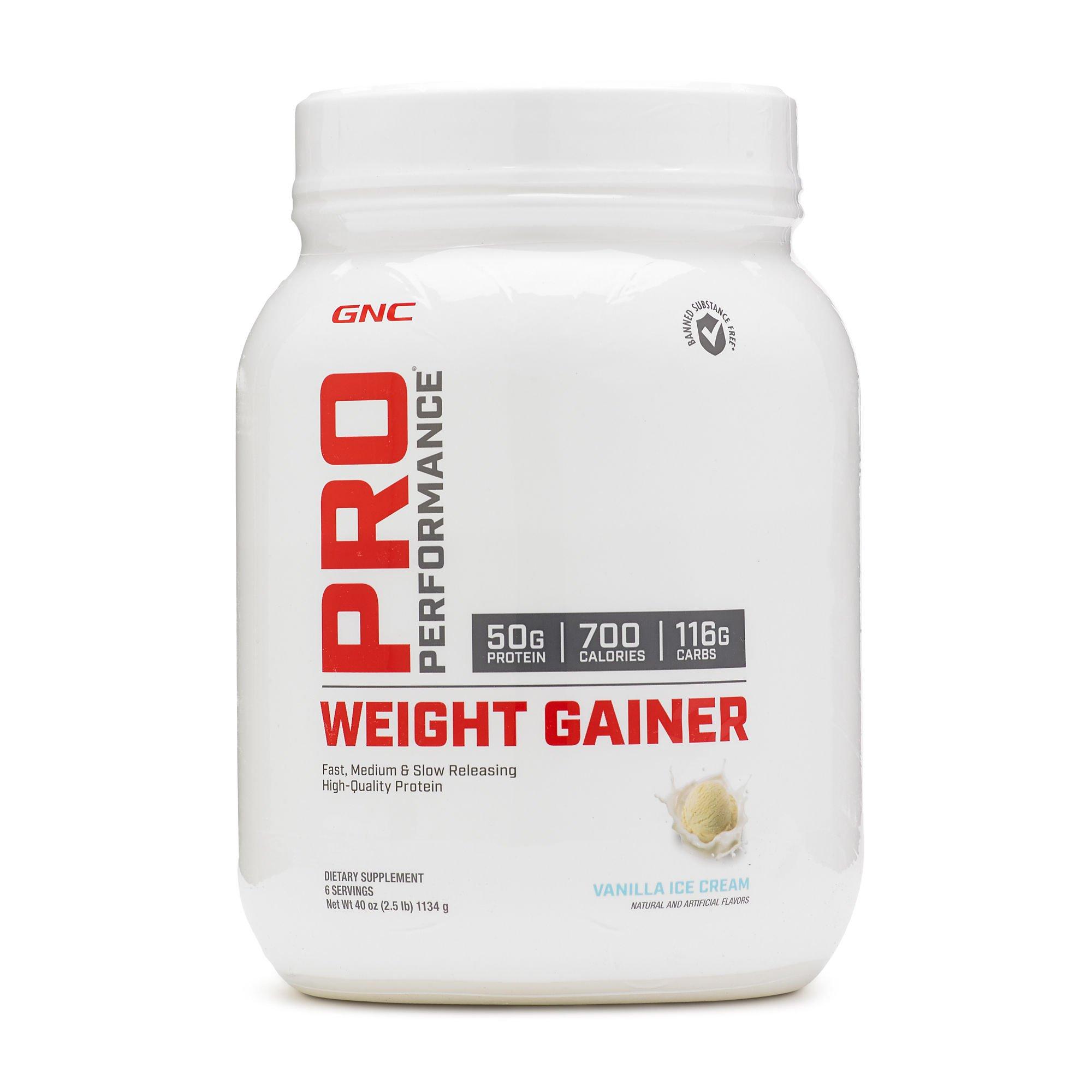 GNC Pro Performance Weight Gainer Vanilla Ice Cream 2.5 lbs.