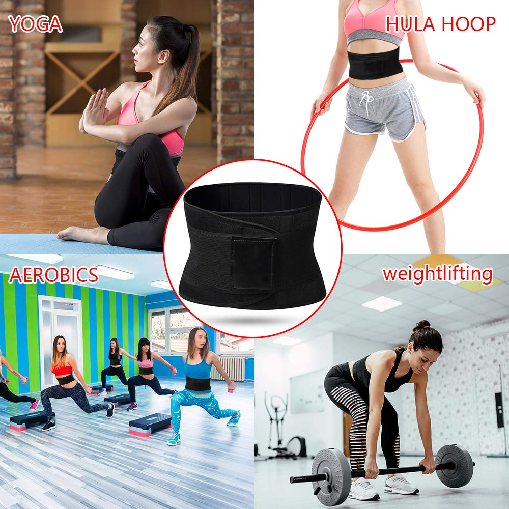 Schwarz,XXL WL=40-44in 102CM-112CM BLAZOR Fitness G/ürtel Damen,Ausgezeichnete R/ückenst/ütze Einstellbar Effizientes Schwitzen,Schwitzg/ürtel zur Beschleunigt den Gewichtsverlust /&abnehmen Bauch